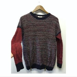 Forever 21 | Gold Side Zip Detail Knit Sweater EUC